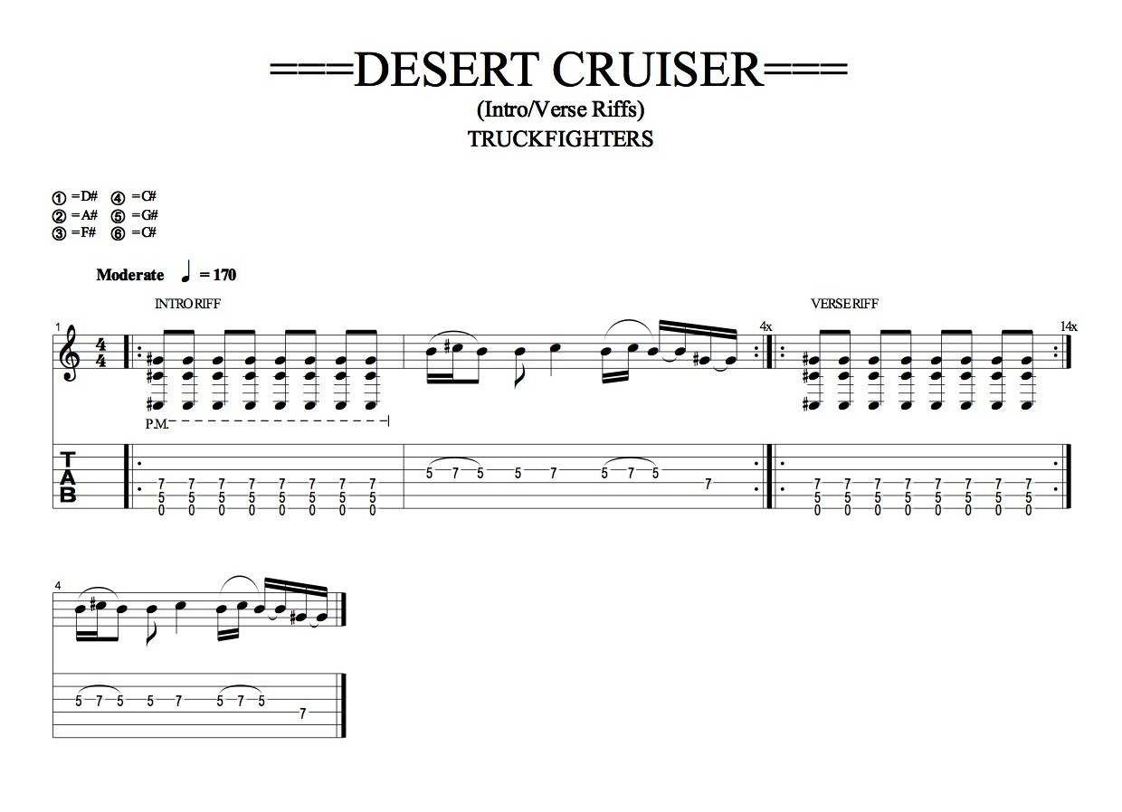 TRUCKFIGHTERS: DESERT CRUISER Intro Riff (Quicktime)