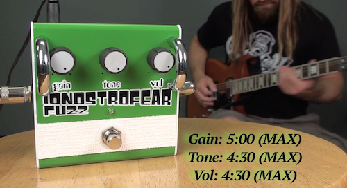 "PEDAL DEMO: ""Ionostrofear"" FUZZ PEDAL by HOVERCRAFT"
